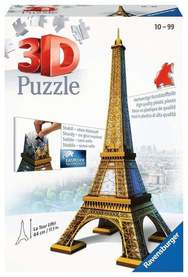Ravensburger 3D-Puslespill Eiffeltårnet, 216 Brikker