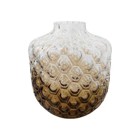 Vase Art Deco Brun