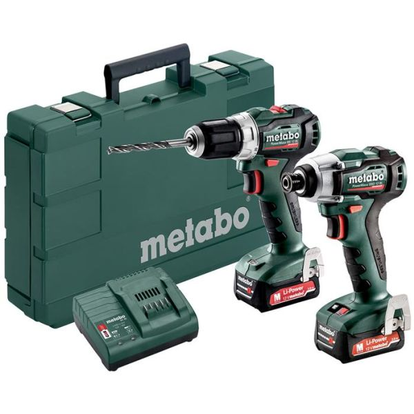 Metabo PowerMaxx BS 12 BL + SSD 12 BL Verktøypakke med batteri og lader