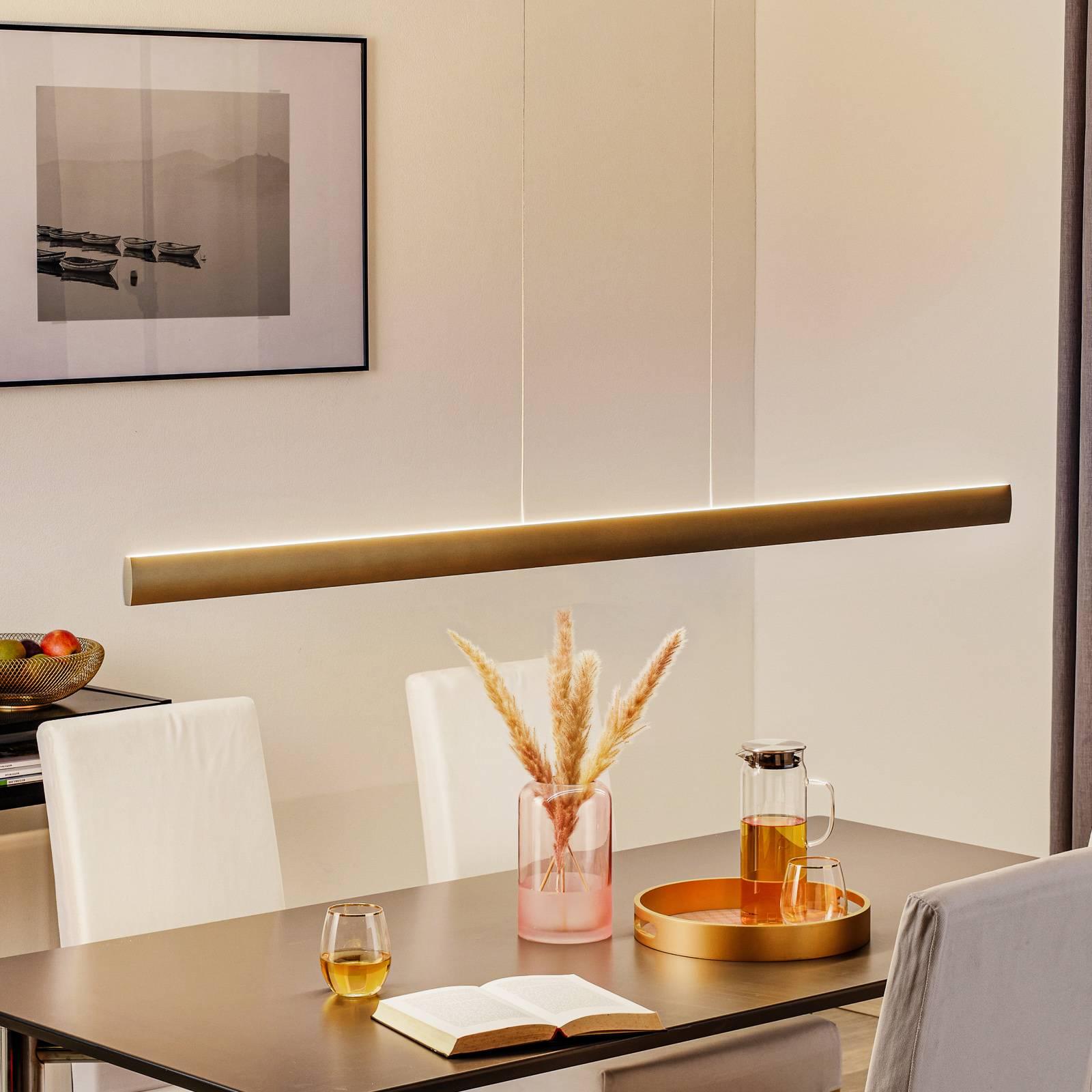 LED-riippuvalaisin Runa, pronssi, pituus 152 cm
