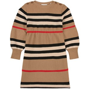 Burberry Leeta Icon Stripe Stickad Klänning Beige 3 år