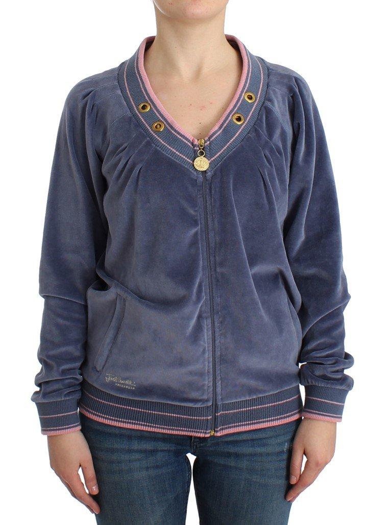 Cavalli Women's Cardigan Blue SIG11841 - IT46|XL
