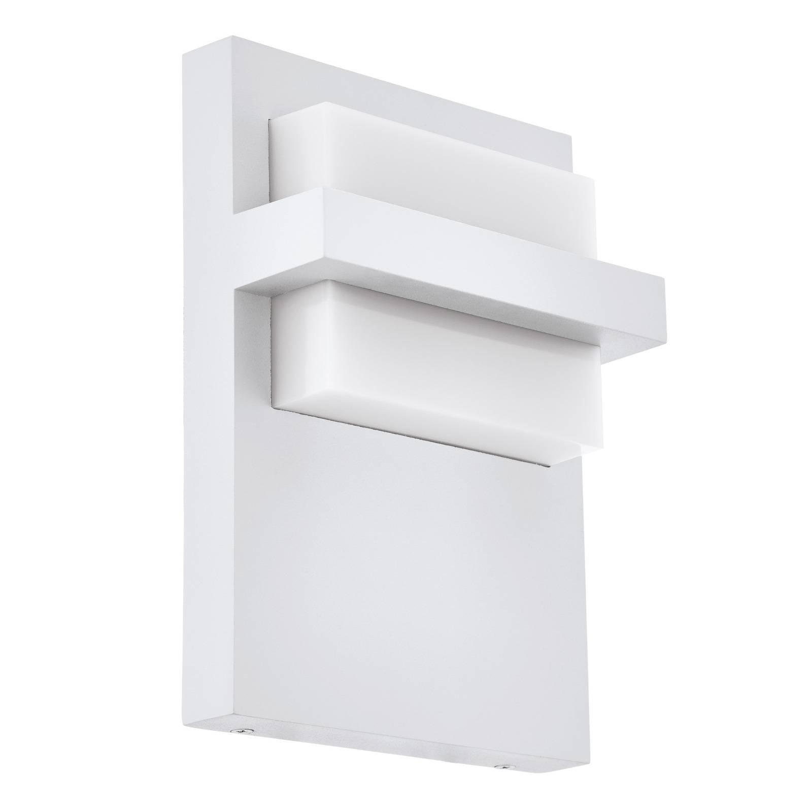 Utendørs LED-vegglampe Culpina av alu, hvit