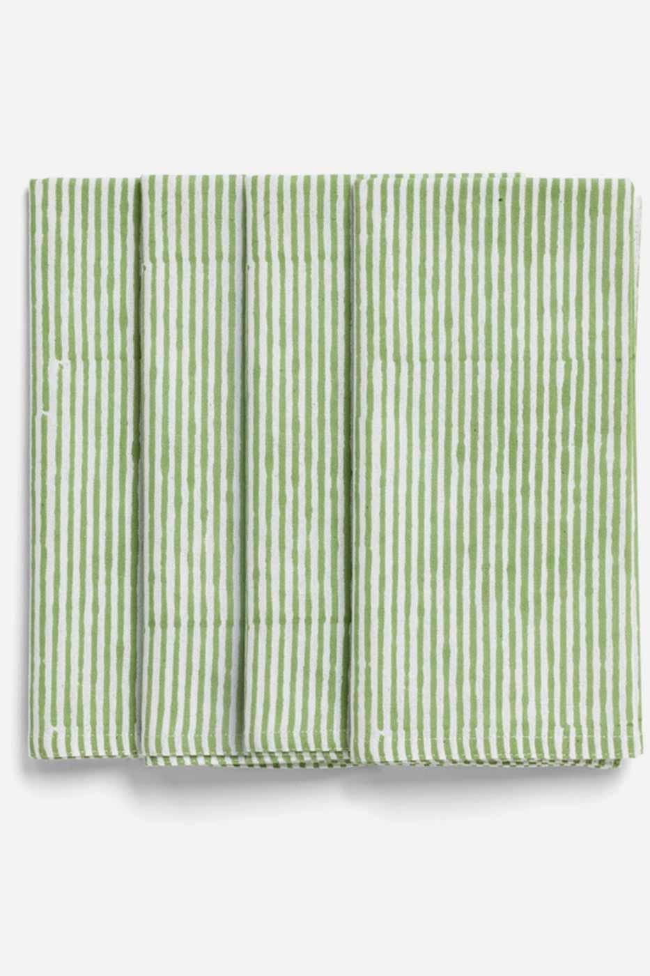 Servett Paradise/stripe Grön 4-pack bomull