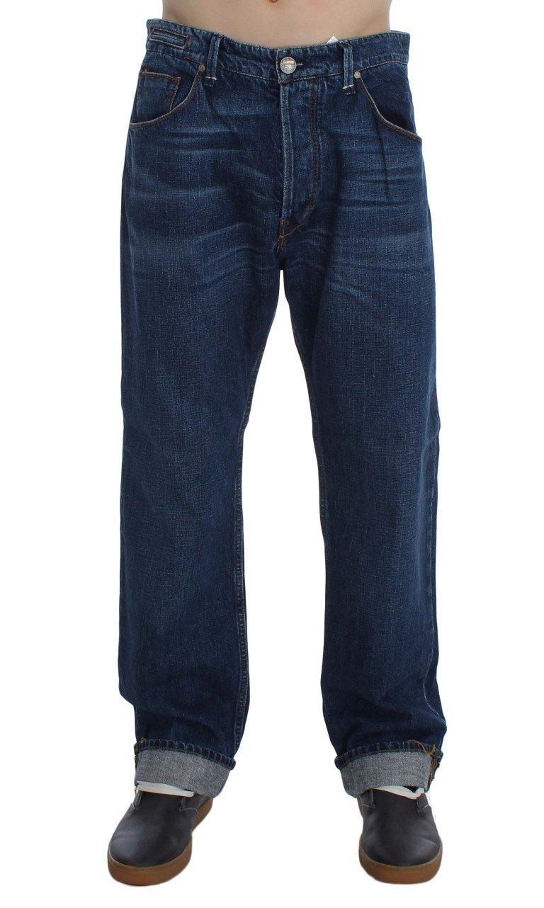 ACHT Men's Baggy Loose Fit Jeans Blue SIG30448 - W34