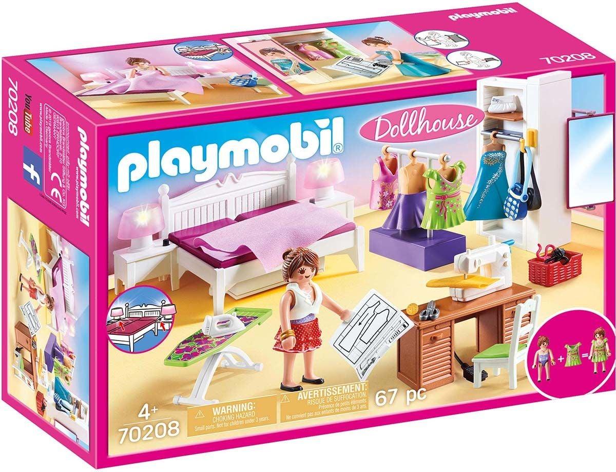 Playmobil 70208 Makuuhuone Ompelunurkkauksella