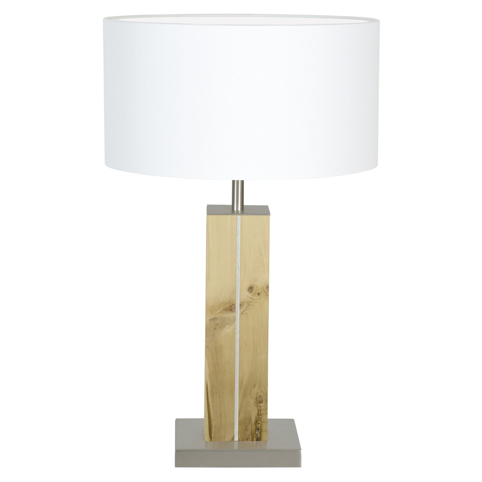 HerzBlut Dana bordlampe, sembrafuru, hvit, 56 cm
