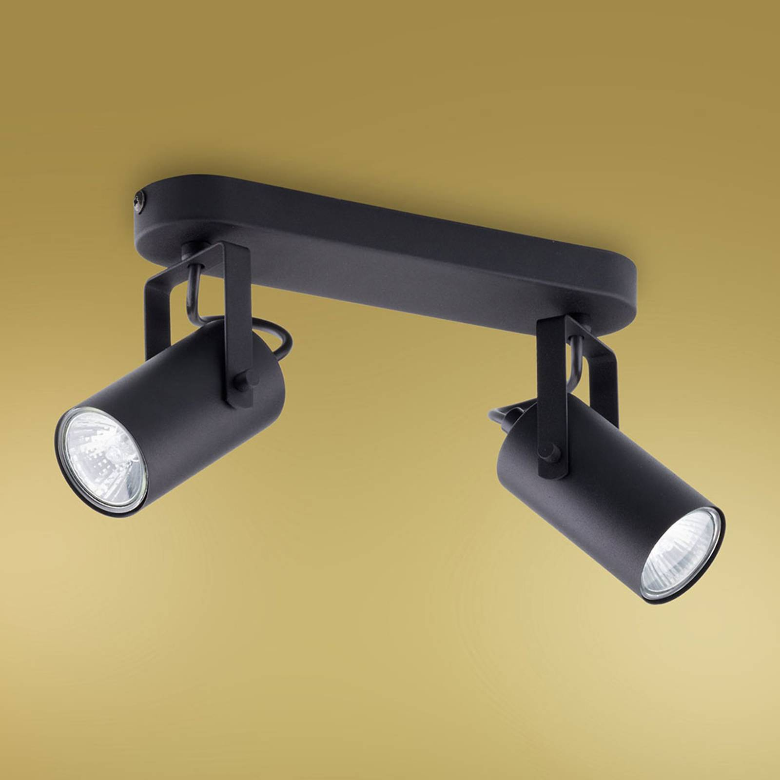 Kattokohdevalo Redo, 2-lamppuinen, musta