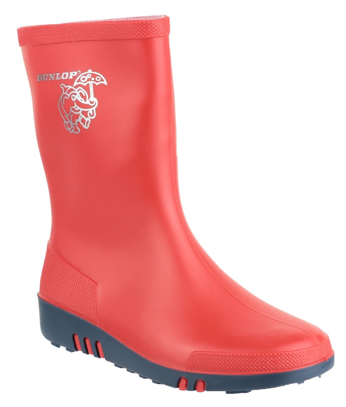Dunlop Kid's Mini Wellington Boot Red 21816 - Red/bl 7.5