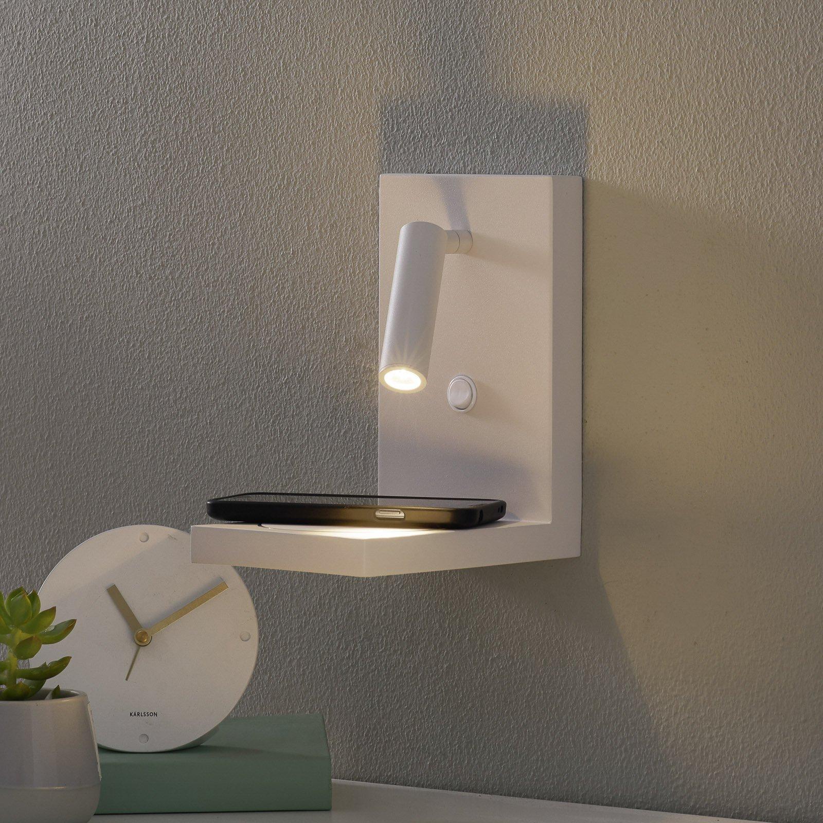 Zanzibar LED-vegglampe med leselampe, hvit