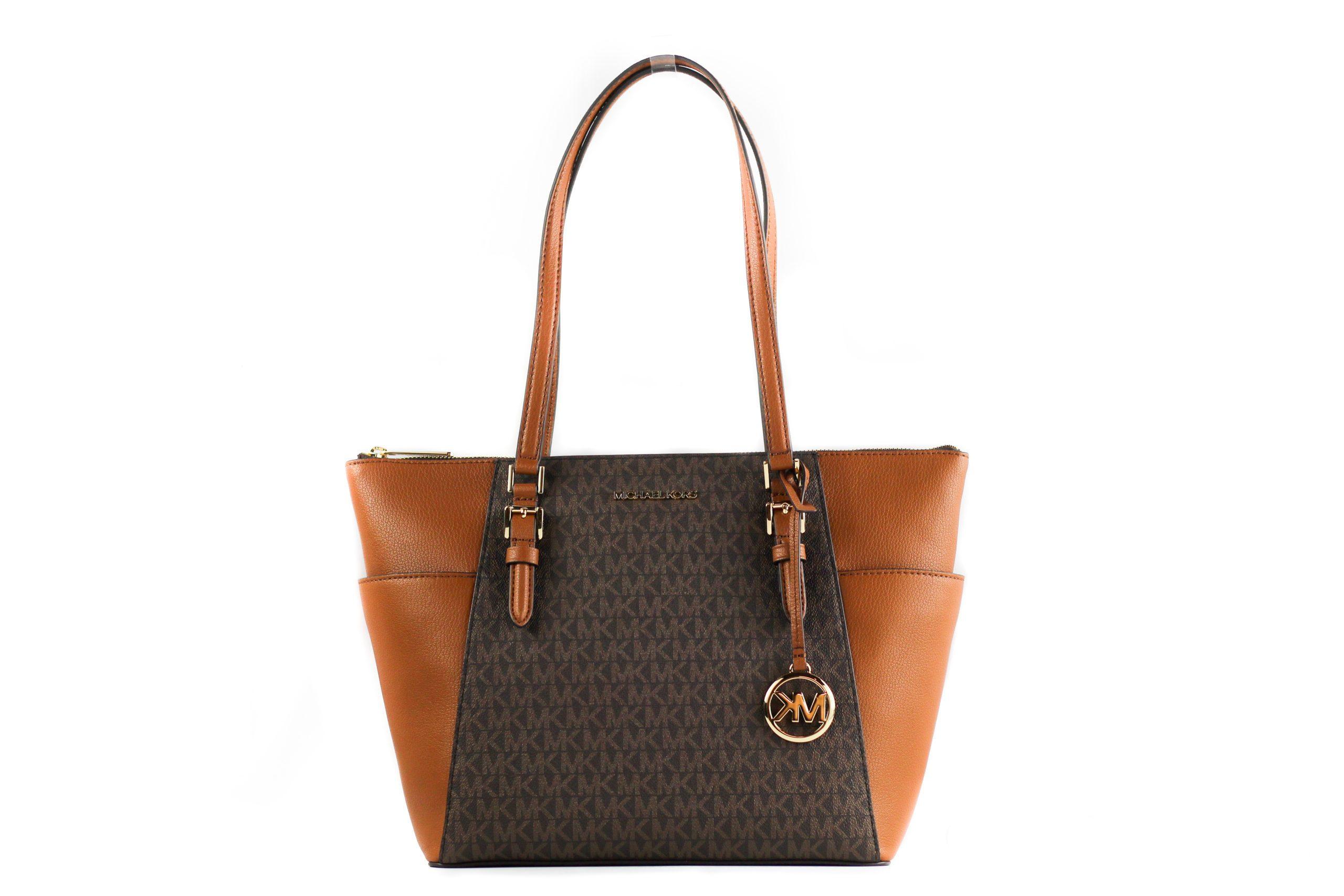 Michael Kors Women's Charlotte Tote Bag Brown 17098