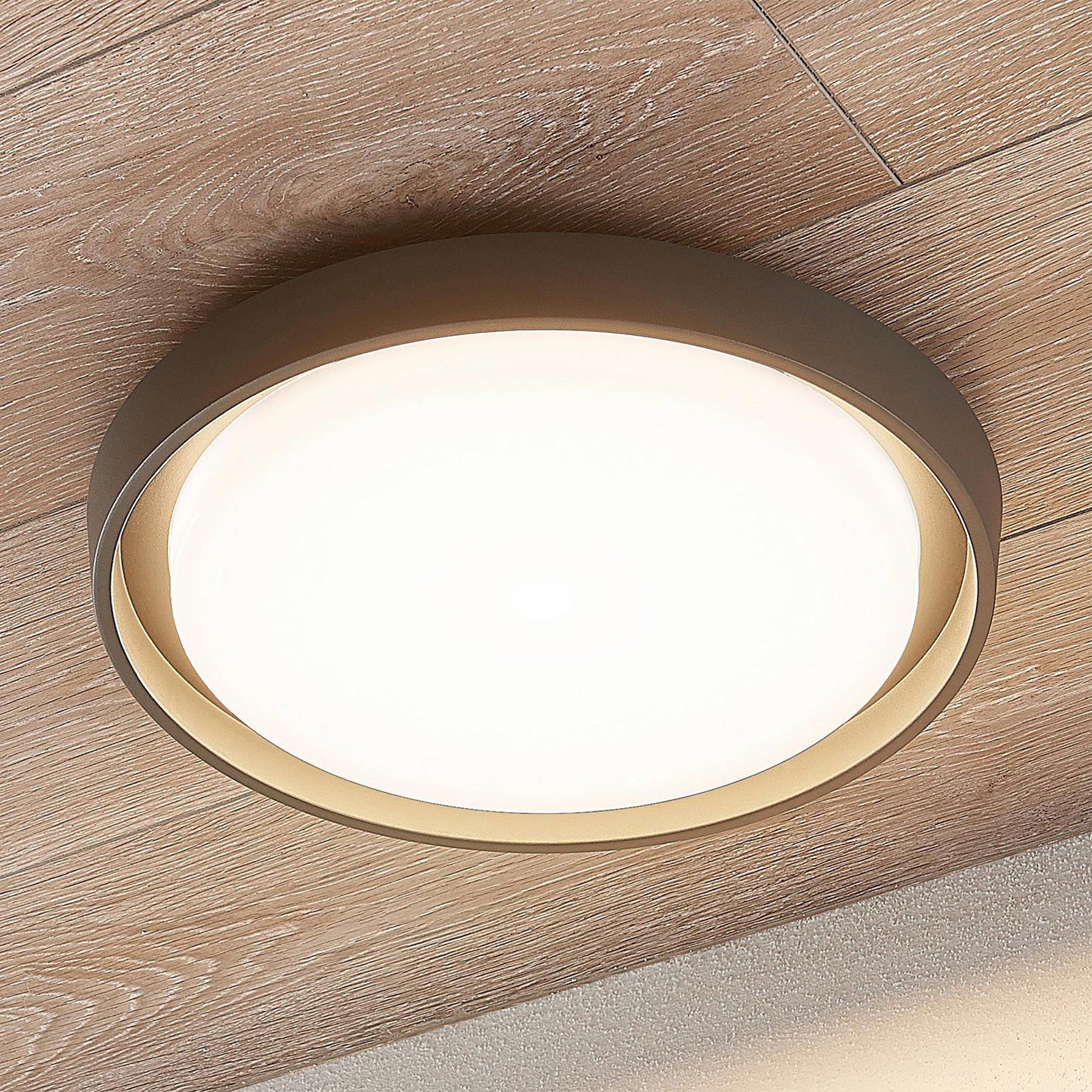 LED-utetaklampe Birta, rund, 34 cm