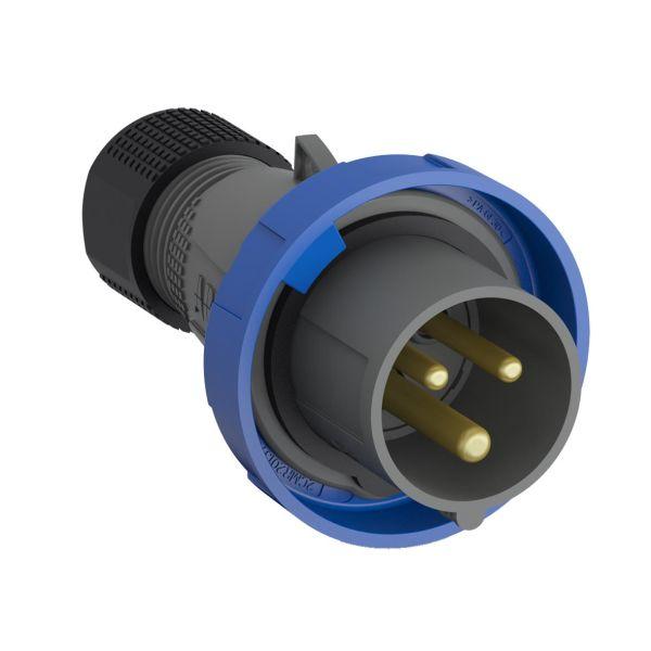 ABB 2CMA101095R1000 Pistotulppa IP67 Sininen, 32 A, 3-napainen