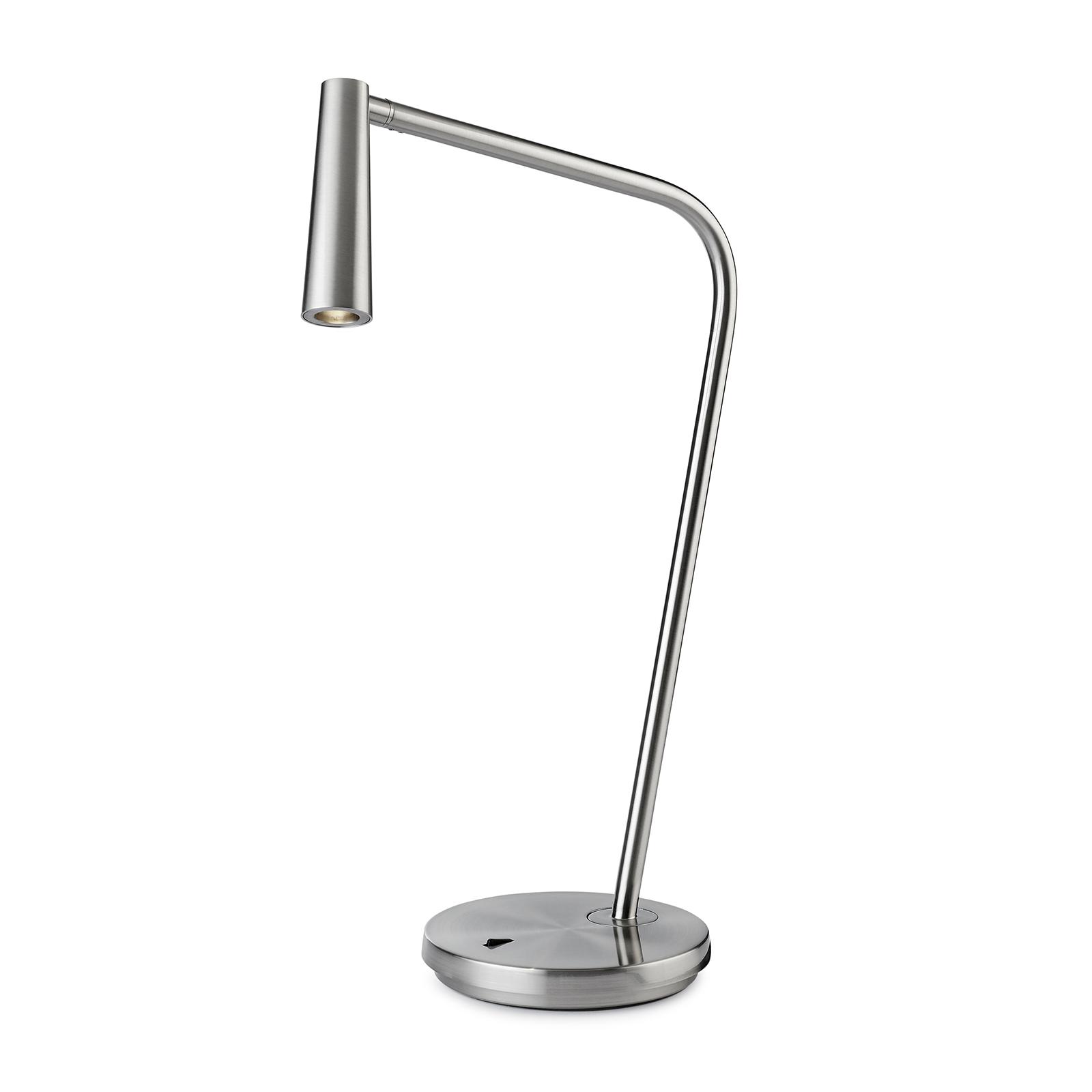 LEDS-C4 Gamma -LED-pöytälamppu, satinoitu nikkeli