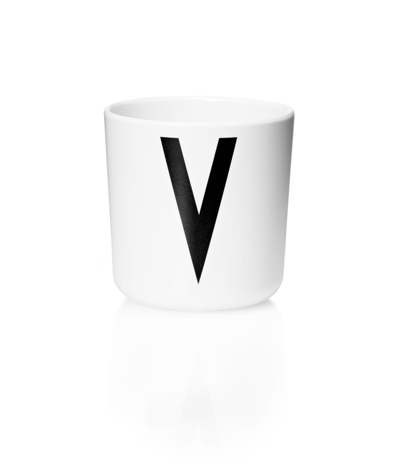Design Letters - Personal Melamine Cup V - White (20201000V)