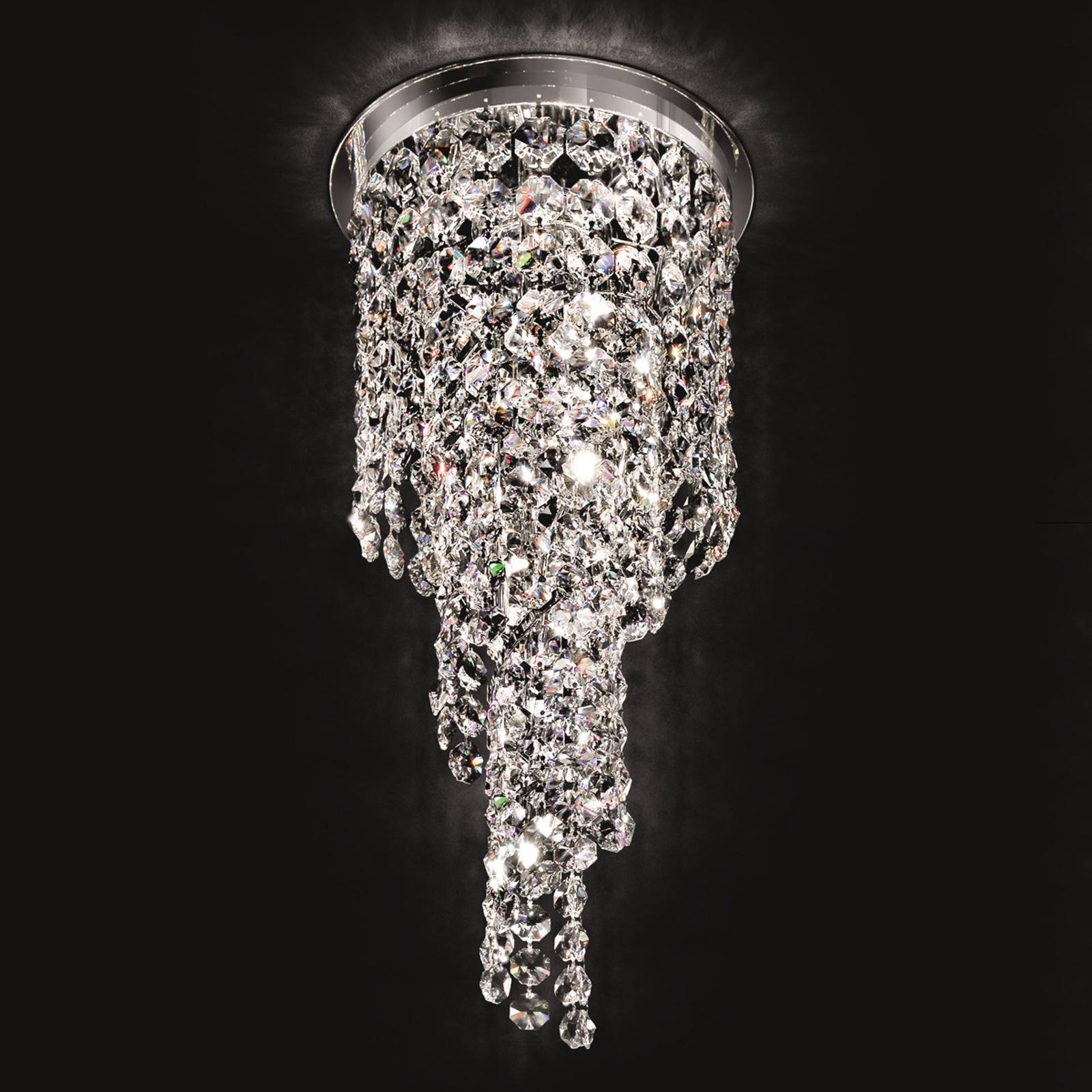 Spiraalinmuotoinen kristallikattolamppu Shine 30cm