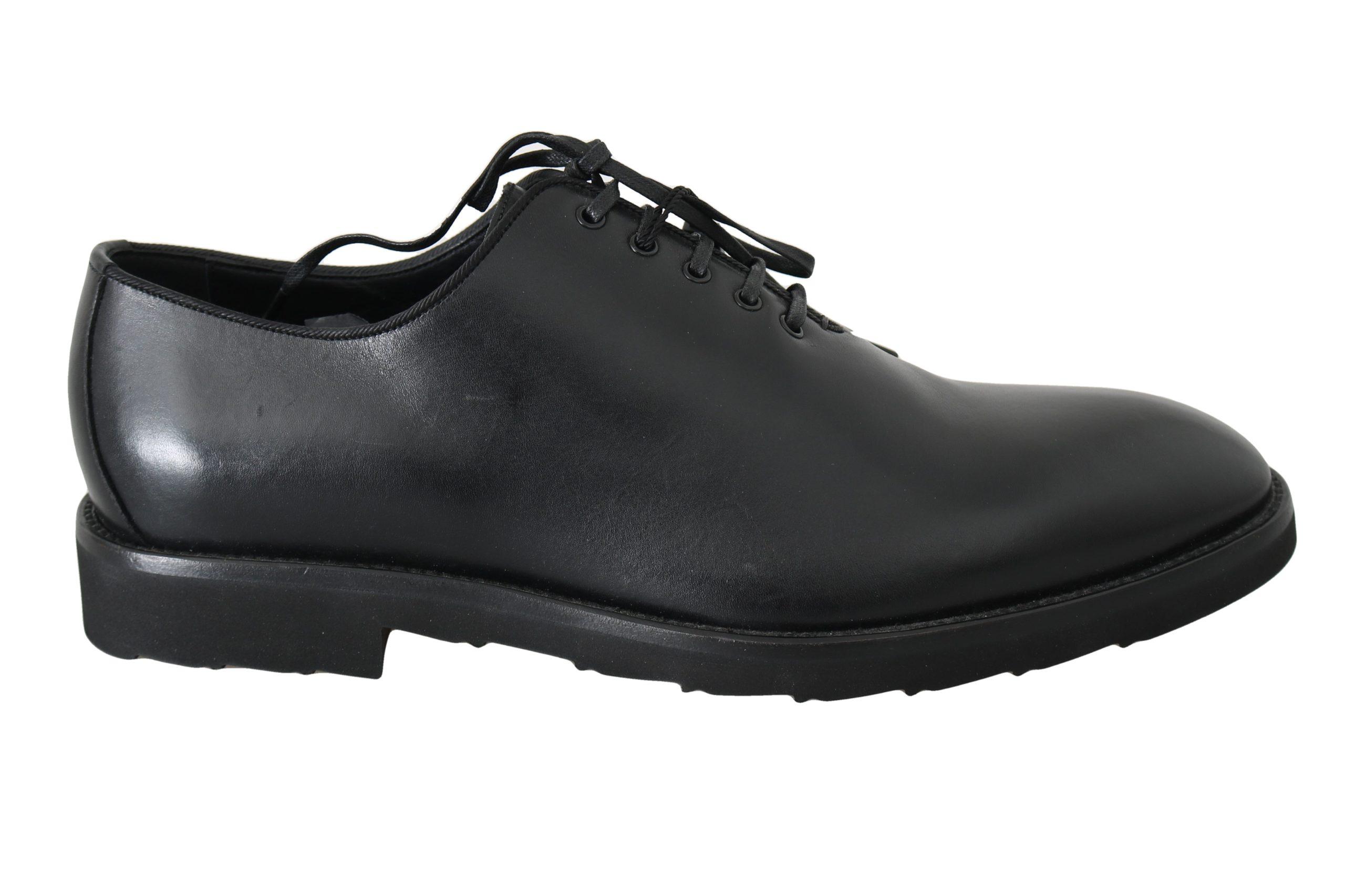Dolce & Gabbana Men's Leather Derby Dress Shoes Black MV2324 - EU42/US9