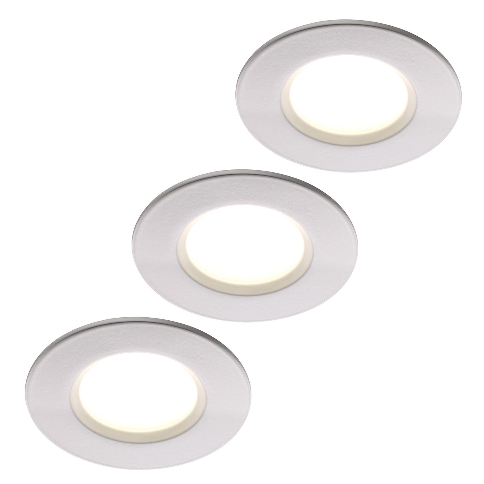 LED-uppovalaisin Clarkson 3 kpl, pyöreä, valkoinen
