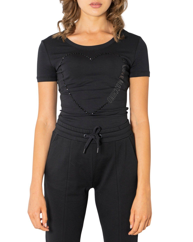 Love Moschino Women's T-Shirt White 320624 - black 38