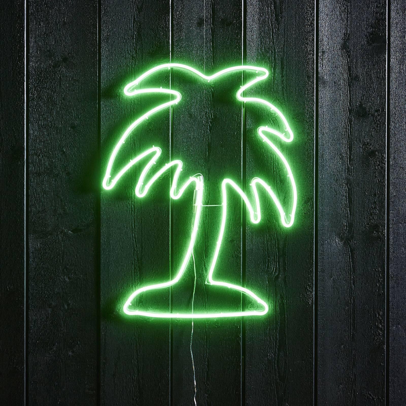 Flatneon Palme -LED-siluetti