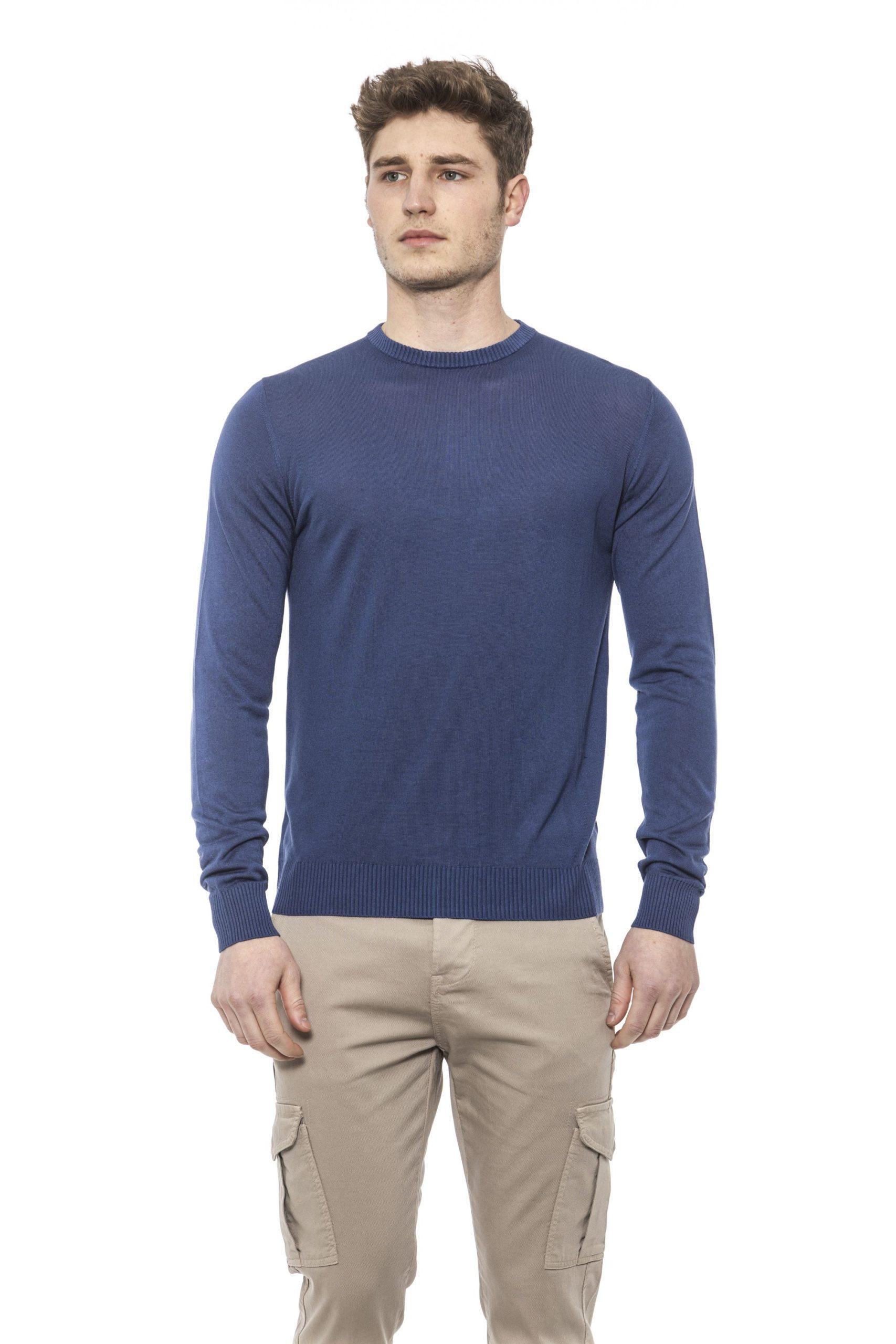 Alpha Studio Men's Chambray Sweater Blue AL1374567 - IT48   M
