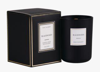 Blackwood matt tuoksukynttilä musta