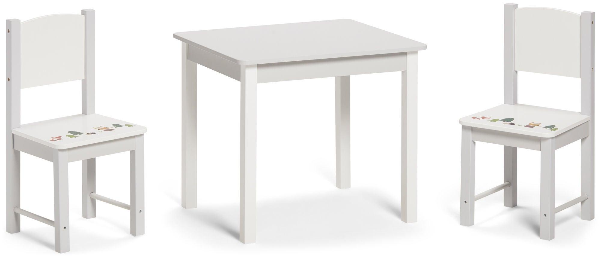 Alice & Fox Pöytä + Tuolit, Harmaa