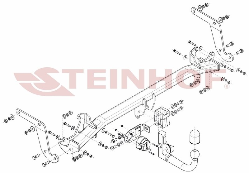 Vetokoukku STEINHOF STP-063 Peugeot 3008 '16-