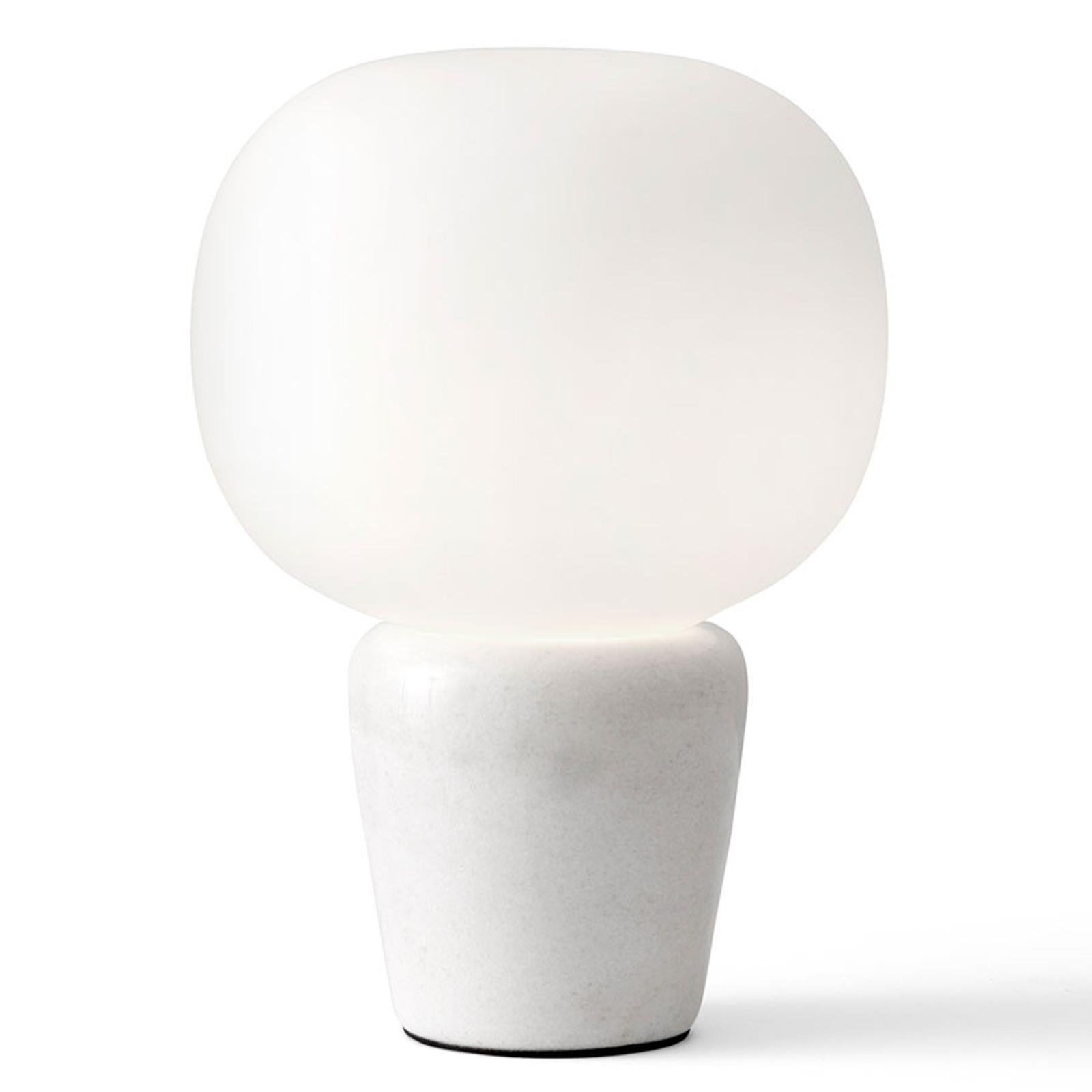 Bombo-pöytävalo, marmoria, korkeus 27cm, Ø 19cm