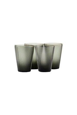 Milo Glass Røkt grå 4 stk.
