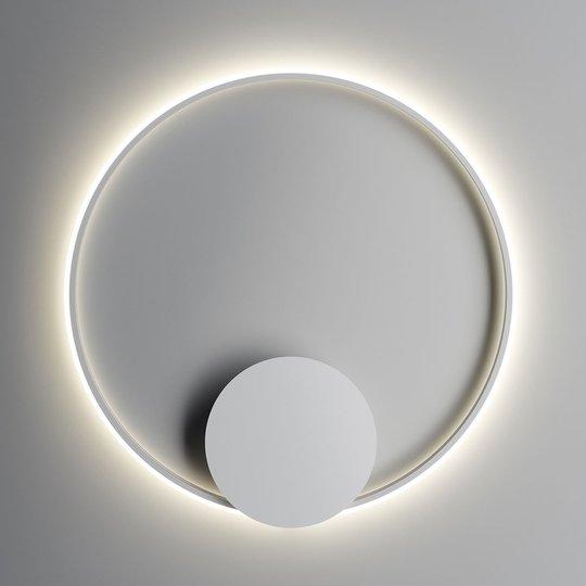 Fabbian Olympic -LED-seinävalo, Ø 80 cm, valkoinen