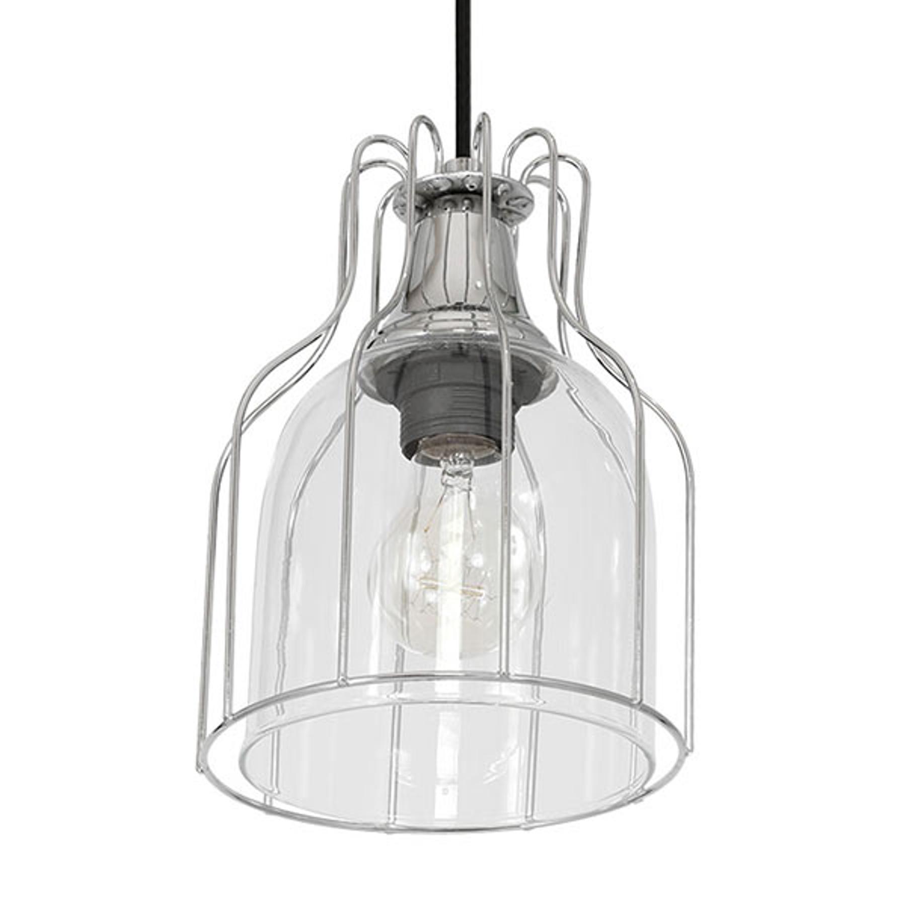 Riippuvalo Aria 1-lamppuinen kirkas/musta/kromi