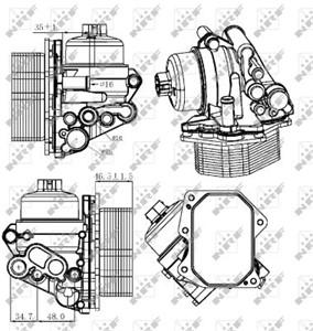 Öljynjäähdytin, moottoriöljy, CITROËN JUMPER Buss, JUMPER Flak/chassi, JUMPER Skåp, PEUGEOT BOXER Buss, BOXER Flak/chassi, BOXER Skåp, 1