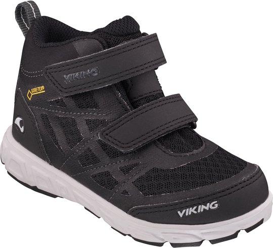 Viking Veme Vel Mid GTX Sneaker, Black/Charcoal 26