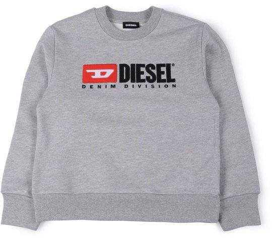 Diesel Screwdivision Sweatshirt, Grigio Melange Nuovo 10år