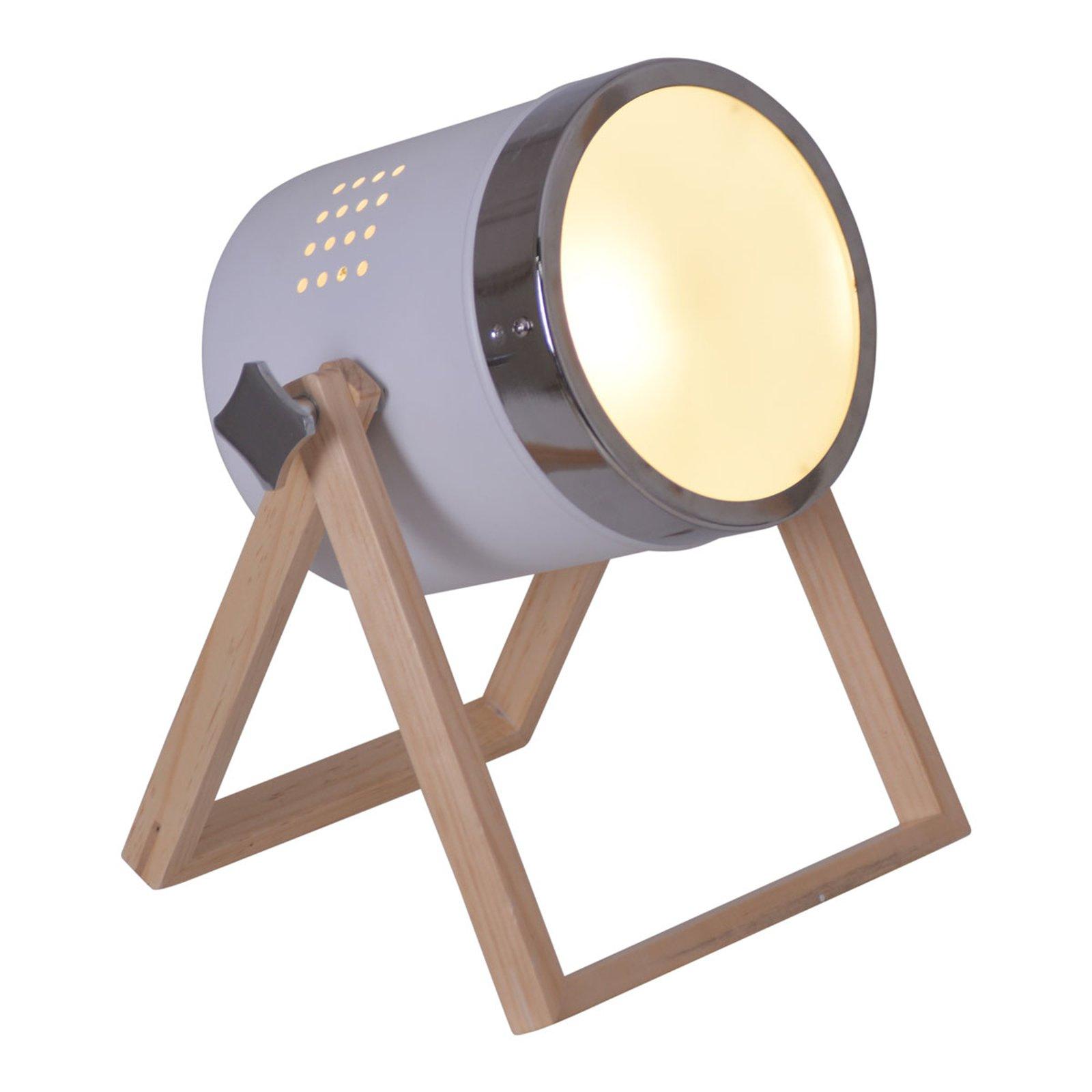 Bordlampe Tim hvit, sølv