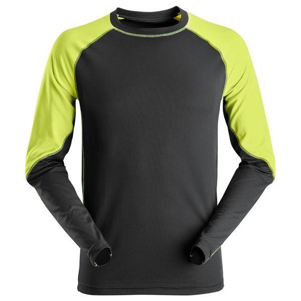 Snickers 2405 T-skjorte svart / neongult XS