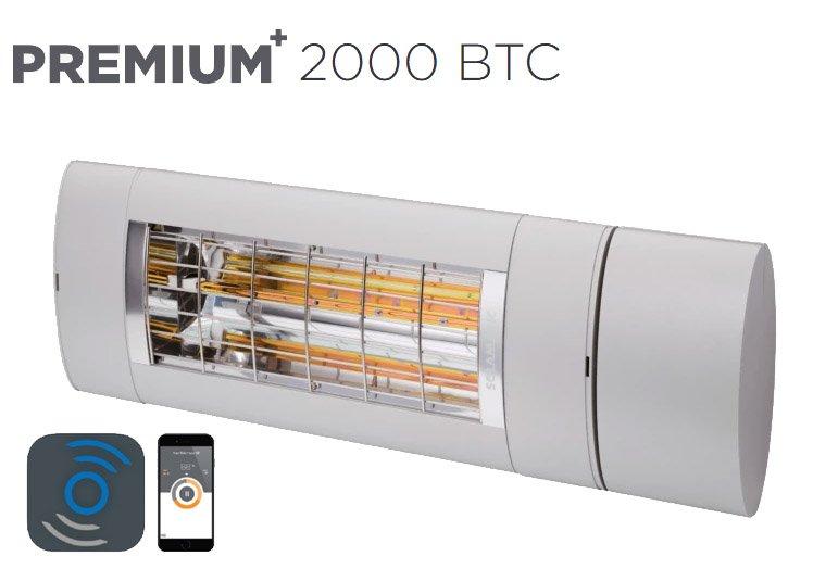 Solamagic - 2000 Premium + BTC Patio Heater - Titanium - 5 Years Warranty