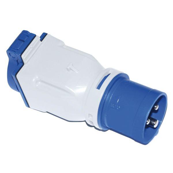 Garo 2425131 Adapter 16 A med IEC/CEE 230 V (50 + 60 Hz) blå