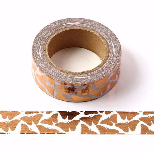 Copper Butterflies Washi Tape