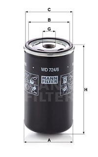 Hydrauliikkasuodatin, automaattivaihteisto MANN-FILTER WD 724/6