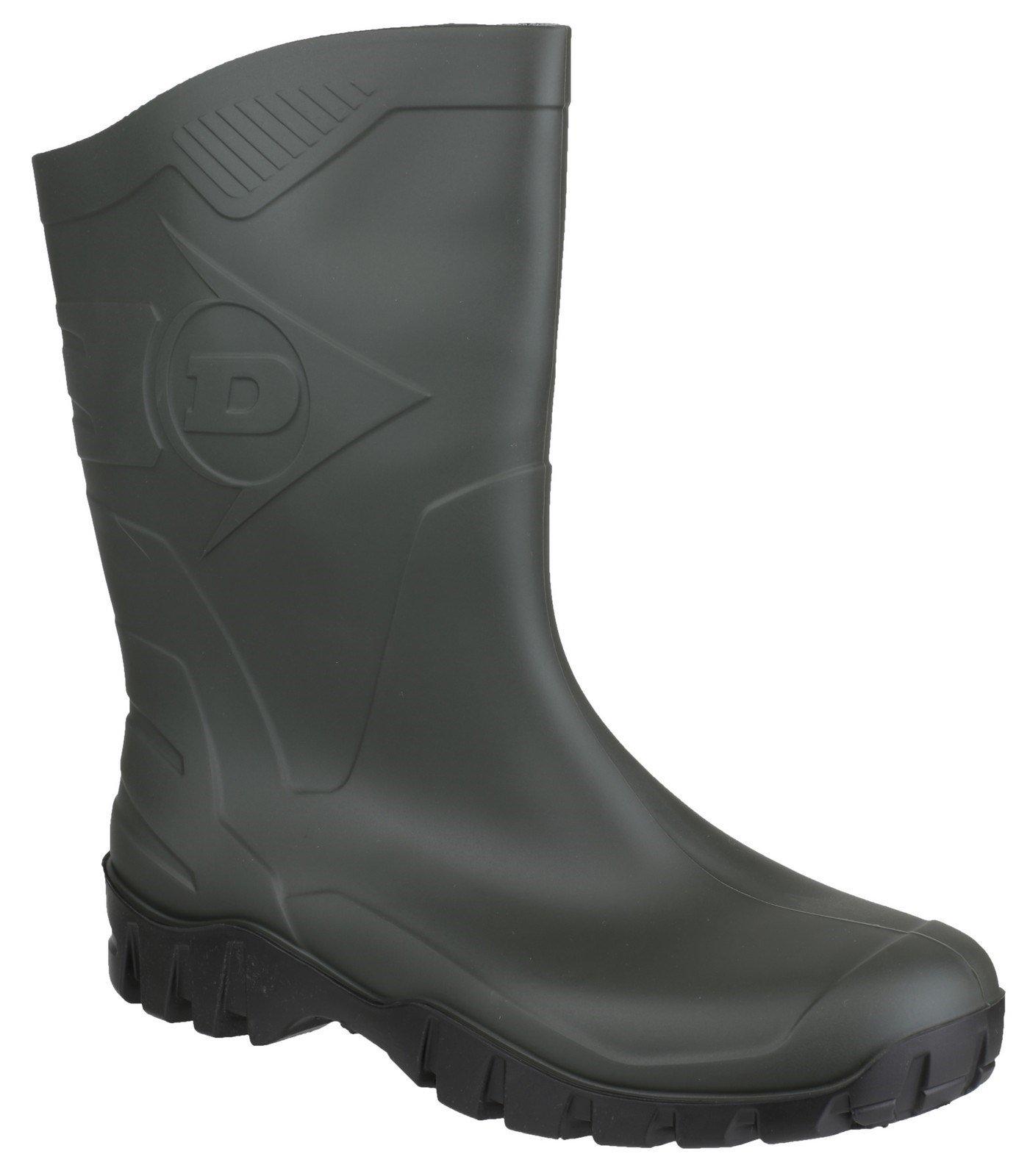 Dunlop Unisex Dee Calf Length Wellington Boot Various Colours 21858 - Dark Green 7