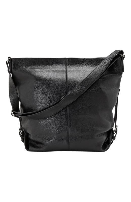 Ceannis Skinnväska Grained Leather Svart