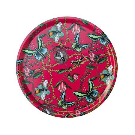 Nadja Wedin Design Brett 38 cm Bugs & Butterflies Cerise