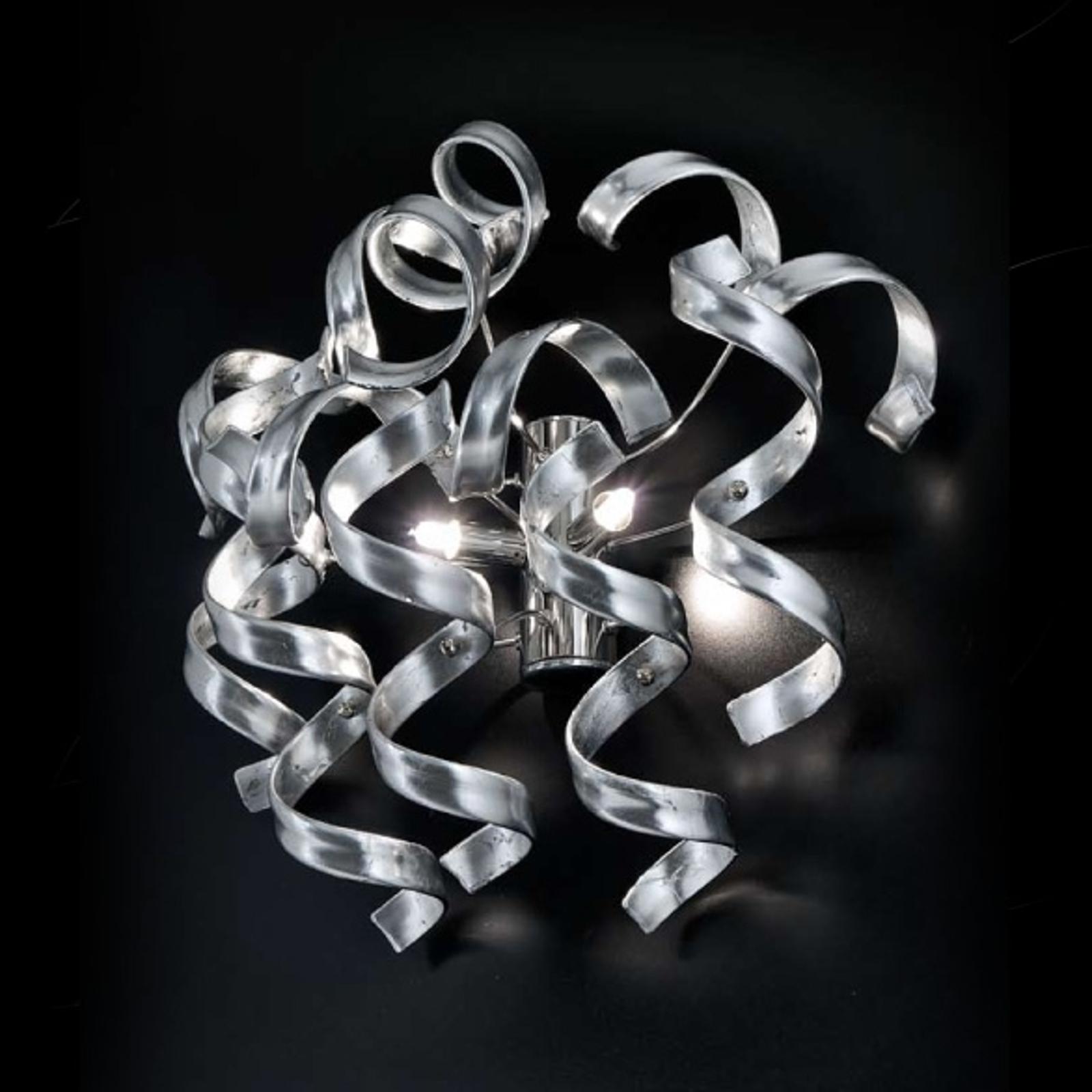 Korkealuokkainen seinävalaisin Silver