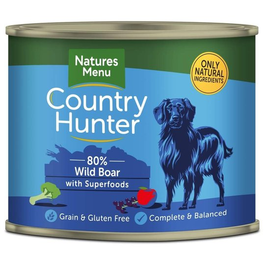 NaturesMenu Country Hunter Dog Vildsvin 600 g