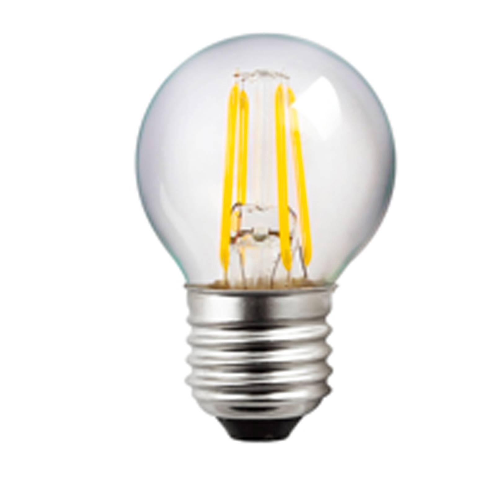 LED-lamppu E27 G45 4W Filament kirkas 827