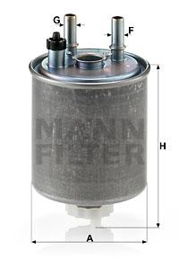 Polttoainesuodatin MANN-FILTER WK 918/1