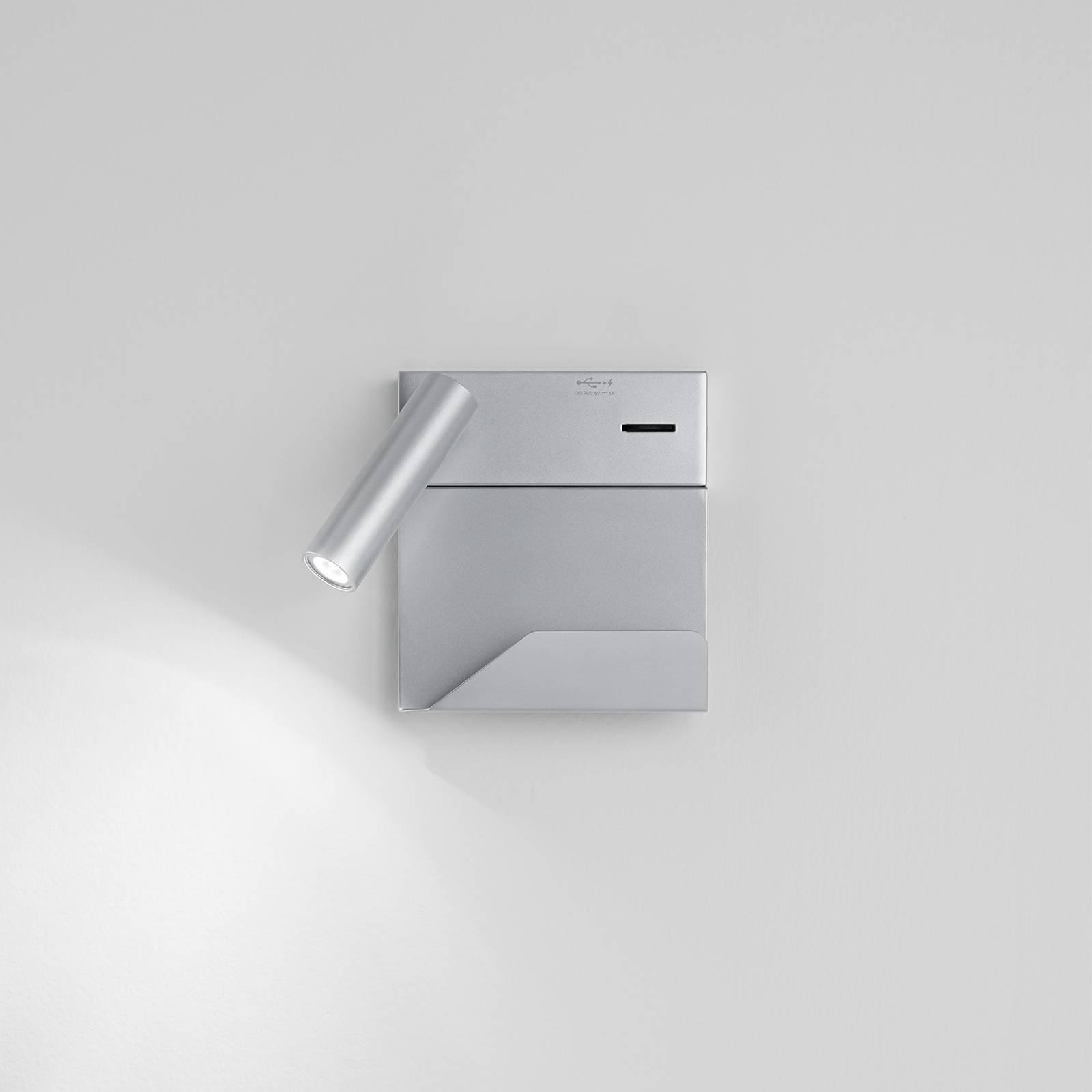 Egger Rona -LED-seinälamppu, USB ja säilytystaso