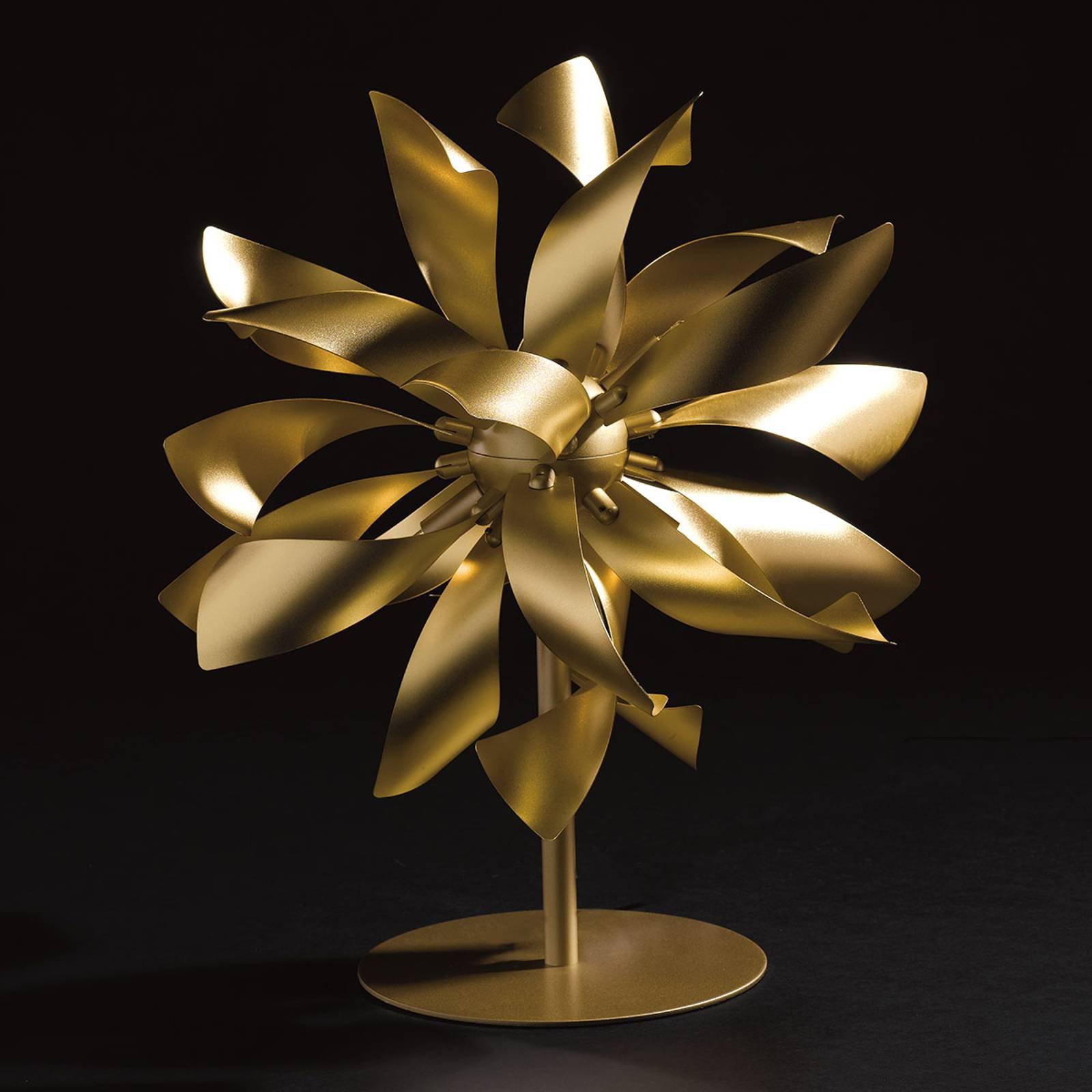 Bordlampe Bloom gullfarget